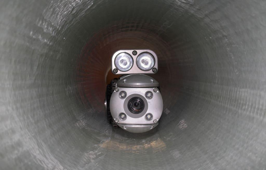 Camera in pipe