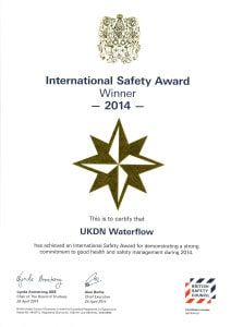 International safety award 2014 UKDN Waterflow