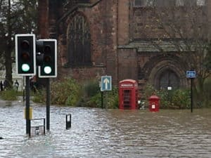 Shrewsbury Abbey Flood