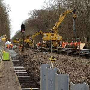 Work on a railway