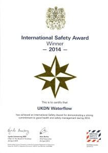 International safety award 2014 UKDN Waterflow
