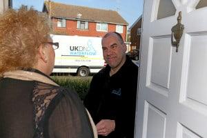 UKDN worker visiting a home owner