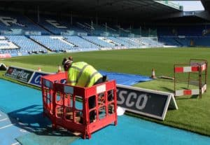 Leeds football club - drain repair