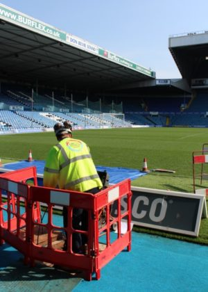 Leeds football club - drain repair continues