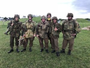 Ian Sandford and Co LARPing as WW2 soldiers in Merville